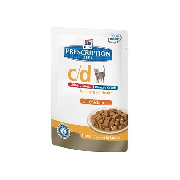 Hill's Pet Nutrition Hill's Prescription Diet Feline c/d Urinary Stress Reduced Calorie Poulet