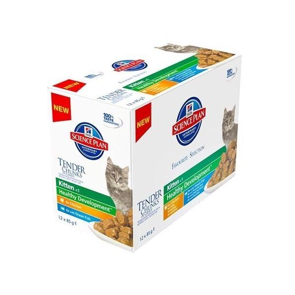 Hill's Pet Nutrition Hill's Science Plan Kitten Tender Chunks in Gravy pack mixte