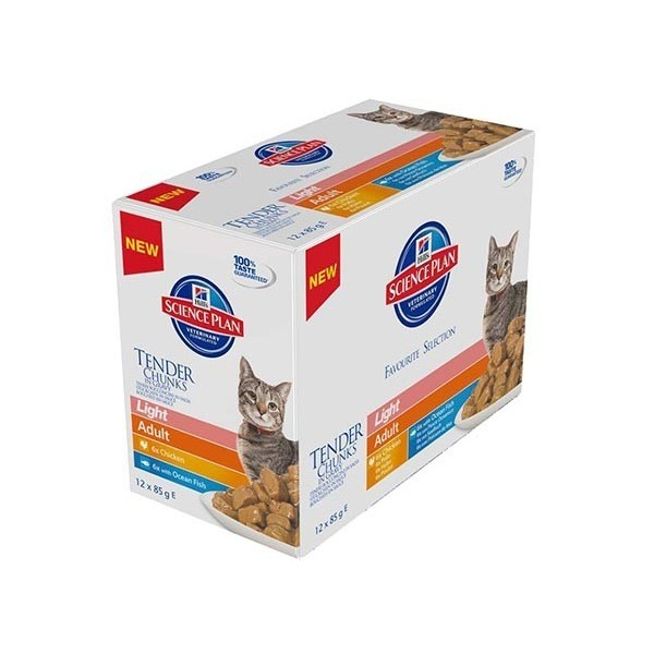Hill's Pet Nutrition Hill's Science Plan Feline Adult Light pack mixte