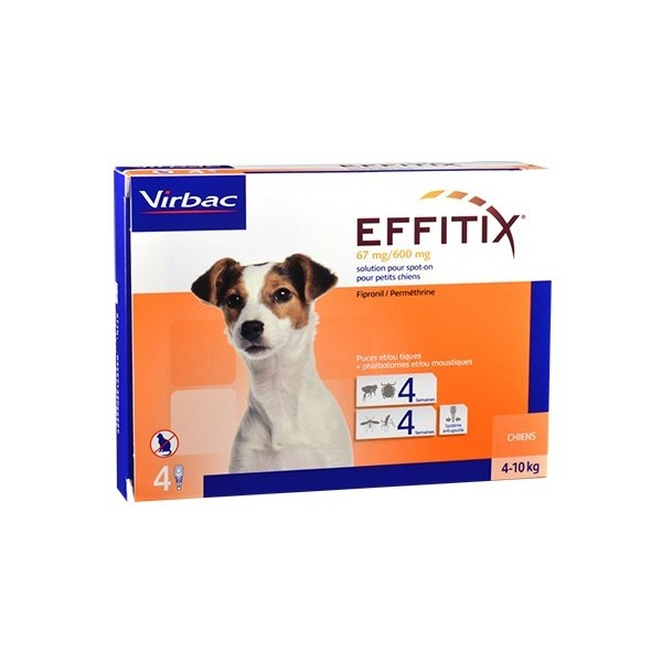 Virbac Nutrition Effitix Spot On Petit chien de 4 a 10 kg