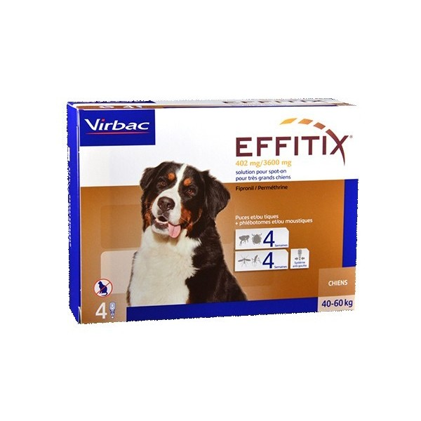 Virbac Nutrition Effitix Spot On Très grand chien de 40 a 60 kg