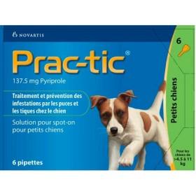 Novartis Prac-Tic 137,5 mg Petit Chien