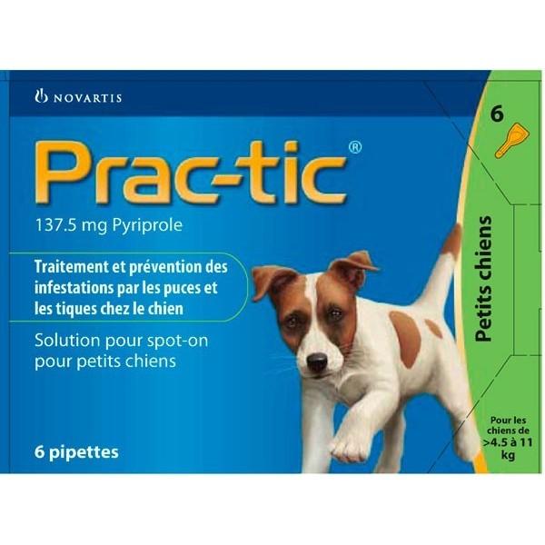 Novartis Novartis Prac-Tic 137,5 mg Petit Chien
