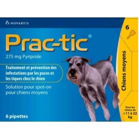 Novartis Prac-Tic 275 mg Chien Moyen