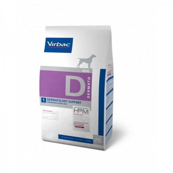Virbac Nutrition HPM D1 Dermatology Support Dog