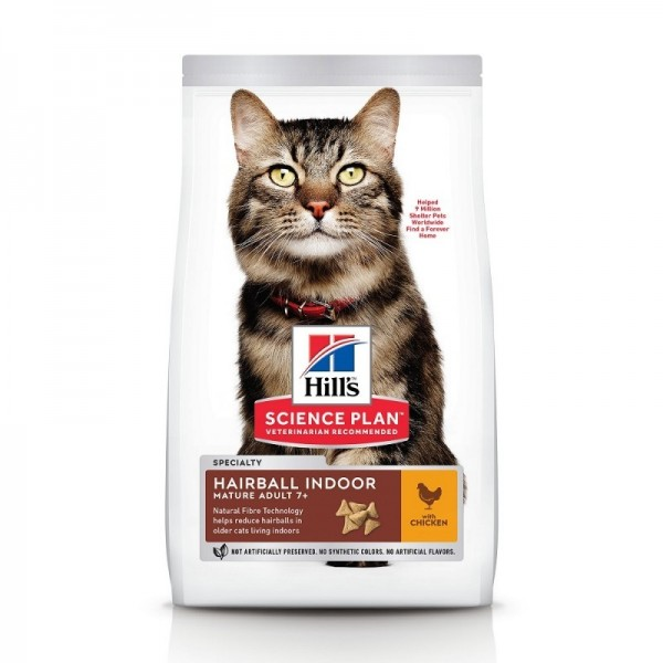 Hill's Pet Nutrition Feline Mature Adult 7+ Hairball Indoor (ex Control) Poulet