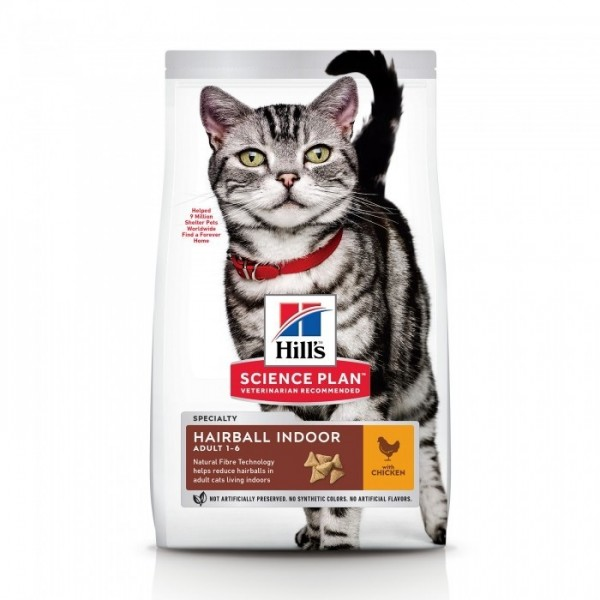 Hill's Pet Nutrition Feline Adult Hairball Indoor Poulet