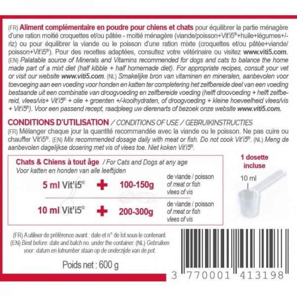Animal Nutrition Expert Vit'I5 Rouge