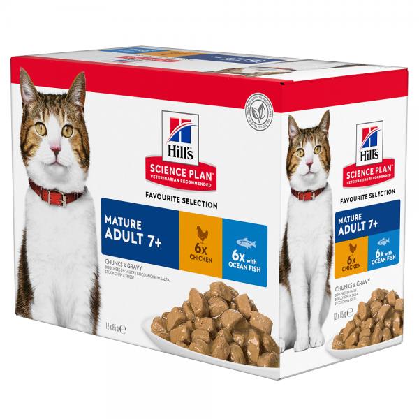 Hill's Pet Nutrition Feline Mature Pack Mixte Sachet repas