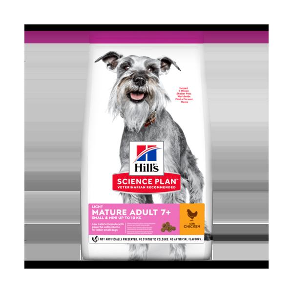 Hill's Pet Nutrition Canine Mature Adult 7+ Light Small&Mini Poulet