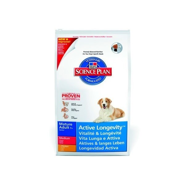 Hill's Pet Nutrition Hill's Science Plan Canine Mature Adult 7+ Active Longevity Medium